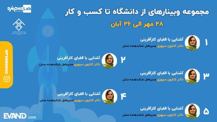 وبینار آنلاین  از دانشگاه تا کسب و کار-غیاث الدین جمشید کاشانی
